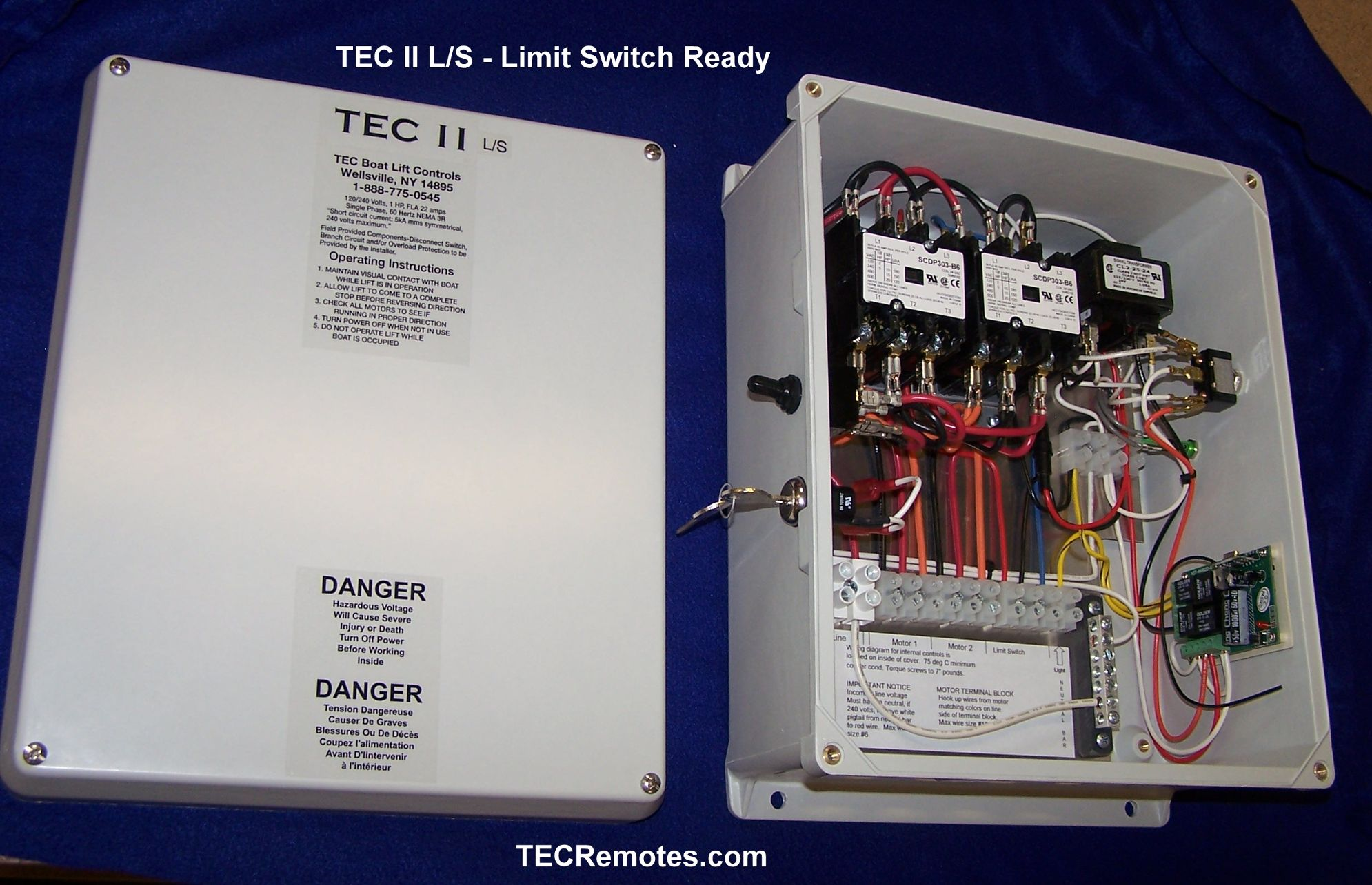 boat lft remote controls, tec i, tec ii, tec 1 2, and tec iv on  for tec ii l s limit switch ready two motor remote at